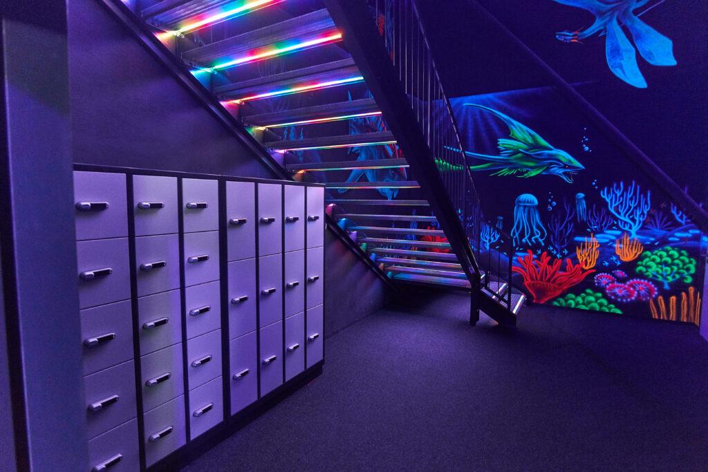 Treppenaufgang Zuschauerpodest Lasertag Bautzen