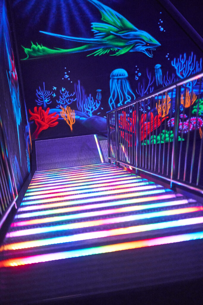 Treppenaufgang Lasertag Bautzen